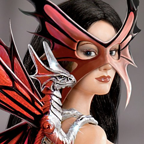 Dragon Guardians Of The Night - Maiden Fantasy Doll Collection - Detail