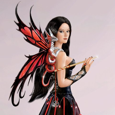 Dragon Guardians Of The Night - Maiden Fantasy Doll Collection - Unmasked