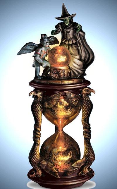 I'll Get You My Pretty Illuminating Hourglass Sculpture