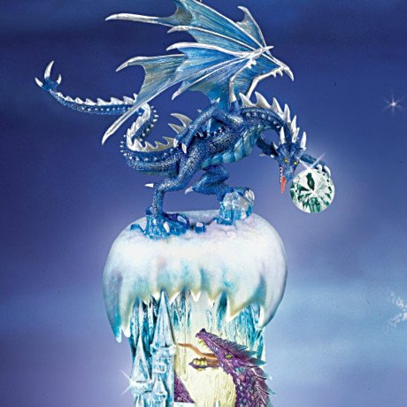 Kingdom Of The Ice Dragons Ornament Collection: Fantasy Dragon Christmas Tree Decor - detail