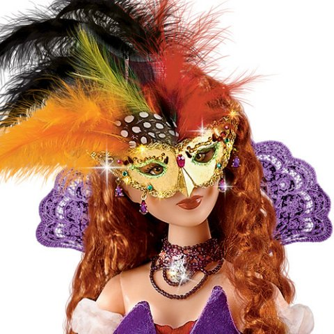 Midnight Fantasy: 16 inch Masked Maiden Fantasy Doll - Detail Masked