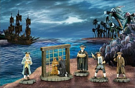 Pirates Of The Caribbean Collectible Figurine Set 3