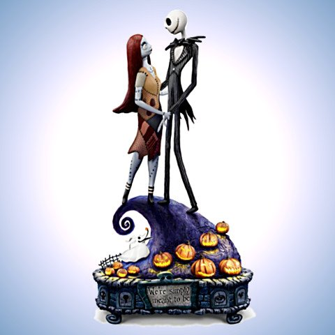 The Nightmare Before Christmas Simply Meant To Be Jack And Sally Musical Figurine