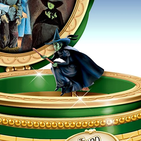 The Wizard Of Oz Wicked Witch Of The West Porcelain Music Box - Detail