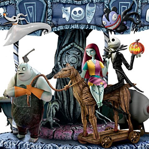 Tim Burton's The Nightmare Before Christmas Carousel - Detail