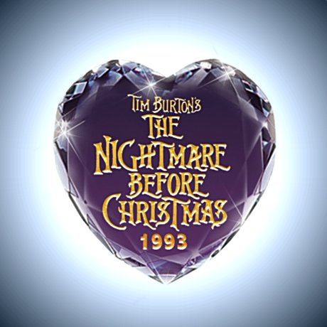 Tim Burton's The Nightmare Before Christmas Pendant Necklace - Back