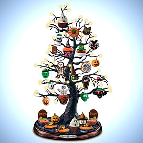 Trick Or Treat Halloween Tabletop Tree Collection - Bright