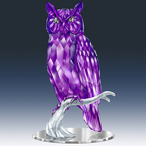 Wisdom Of The Amethyst Owl Figurine