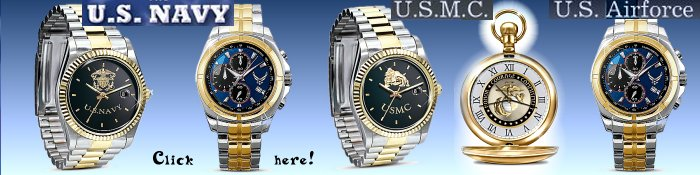 US Navy watch, USMC watch, US Airforce watch