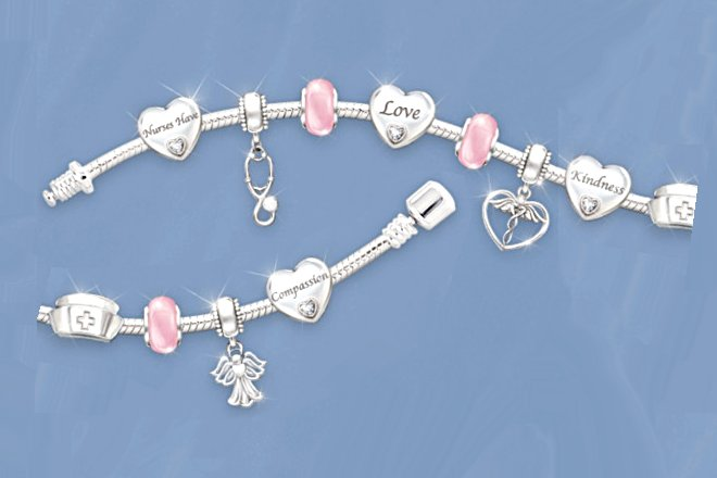 A Nurse's Heart Charm Bracelet
