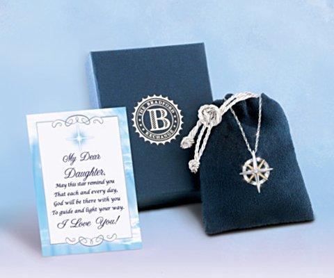 Diamond Pendant Necklace: Light Of Faith Daughter Necklace - set