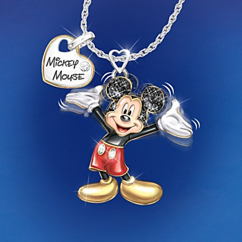 Disney Magic In Motion Mickey Mouse Pendant Necklace - moving
