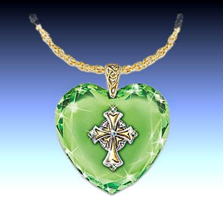 Irish Celtic Cross Pendant Necklace: Emerald Isle Blessings