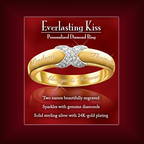 Everlasting Kiss Personalized Diamond Ring