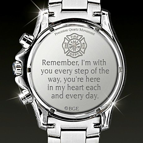 For My Firefighter - Men's Chronograph Watch - back