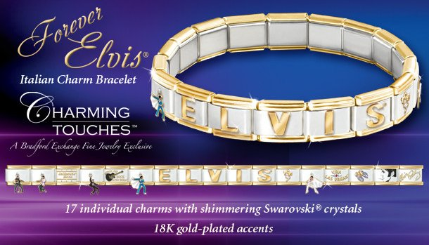 Forever Elvis Italian Charm Bracelet: Elvis Presley Jewelry Gift - info