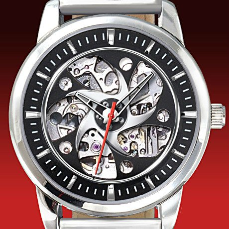 Freedoms Ride Motorcycle Skeleton Watch