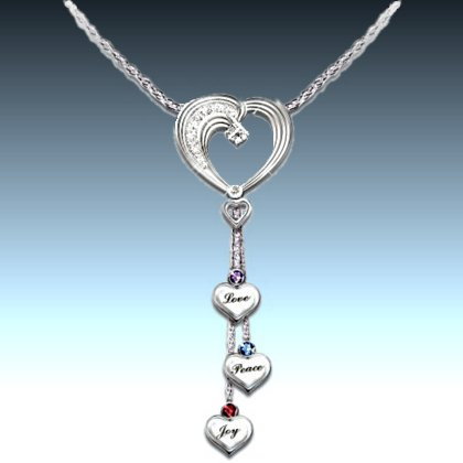 Heartfelt Wishes Sterling Silver Heart-Shaped Necklace for Daughter