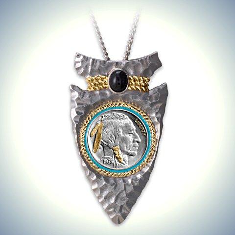 Indian Head Nickel Arrowhead Men's Pendant Necklace