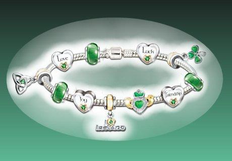 Irish Pride Charm Bracelet: Irish Blessings