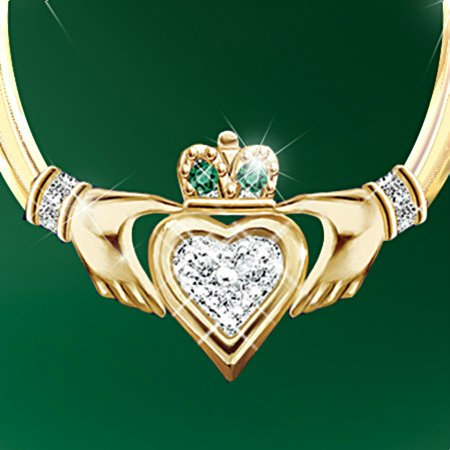 Blessings Of The Emerald Isle Claddagh Earring