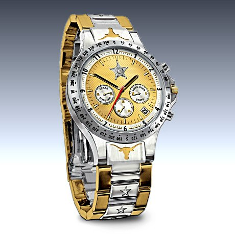 Texas Lone Star Diamond Men's Watch
