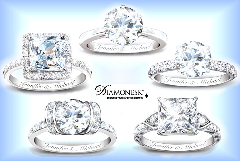Personalized Diamonesk Ring: Bridal Ring