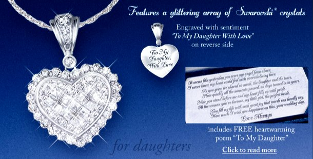 Jewely for moms and daughters precious daughter perfect bride heart pendant necklace bride daughter jewelry gift aloadofball Images