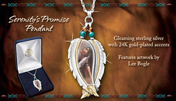 Lee Bogle Serenity's Promise Sterling Silver Pendant Necklace