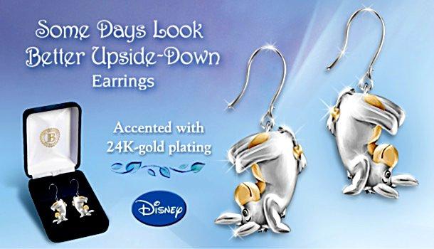 Some Days Look Better Upside Down Eeyore Pierced Earrings
