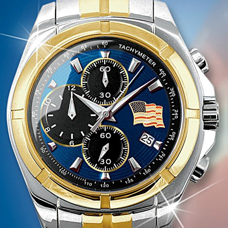The Spirit Of America Mens Chronograph Watch