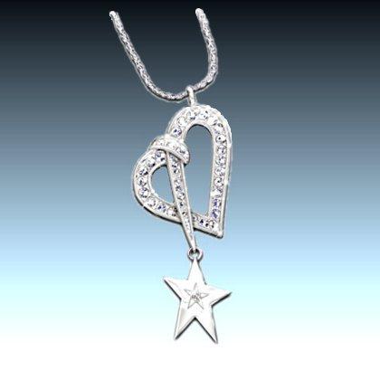 Swarovski Crystal And Diamond Shining Star Pendant Necklace