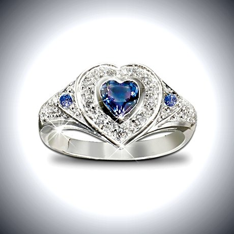 True Heart Tanzanite And Diamond Heart Shaped Ring: Romantic Jewelry Gift For Her