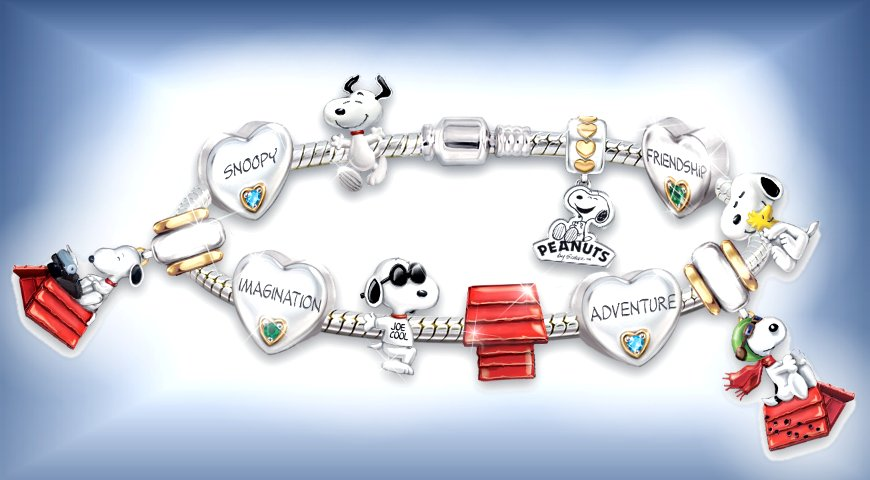 The Adventures Of Snoopy - Women's Charm Bracelet