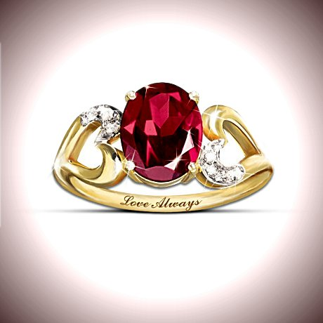 The Promise: Garnet And Diamond Promise Ring