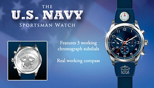 The U.S. Navy Sportsman's Stainless Steel Watch