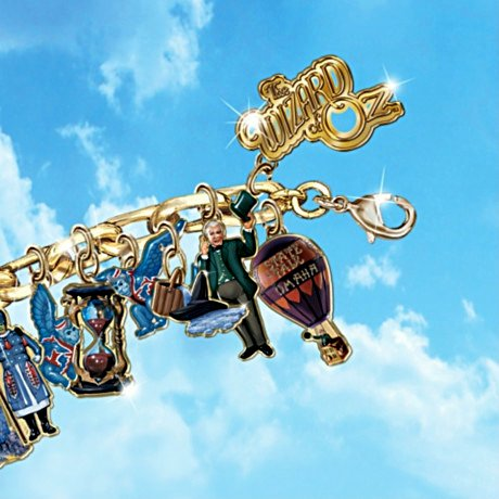Wizard Of Oz Ultimate Charm Bracelet: Engraved Wizard Of Oz Jewelry Collectible - detail 1