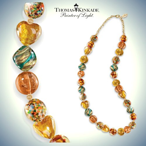Thomas Kinkade Colors Of Venice Murano-Style Glass Necklace