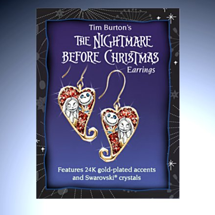 Tim Burton's Nightmare Before Christmas Earrings