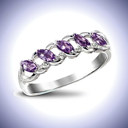 The Timeless Amethyst And Diamond Eternity Ring