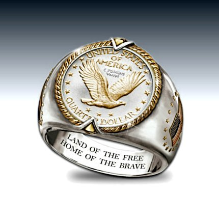 U.S. Eagle Quarter Men's Ring