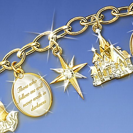 Ultimate Faith Inspirational Religious Christian Charm Bracelet: Religious Jewelry Gift - detail