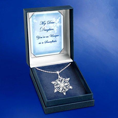 Unique As A Snowflake Diamond Pendant Necklace in Box