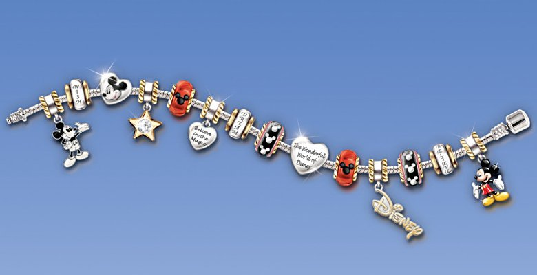 Walt Disney 110th Anniversary Celebration: Mickey Mouse Charm Bracelet