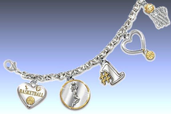 You Are My Pride & Joy Heart Shaped Sports Charm Bracelet With Swarovski Crystal - left