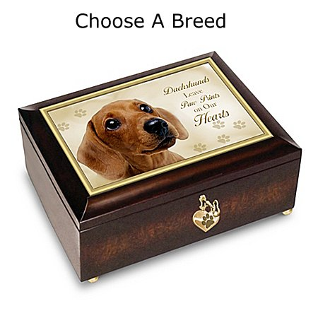 Choose A Bread: Dogs Leave Paw Prints On Our Hearts Music Box