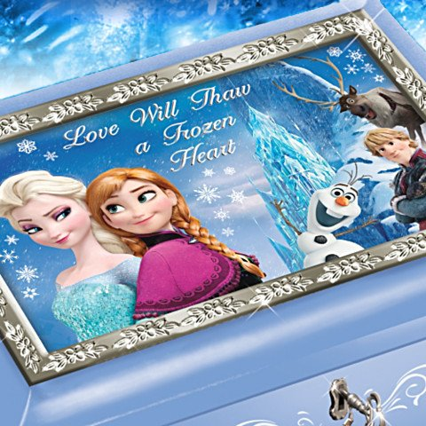 Disney FROZEN Blue Music Box: Plays Let It Go - detail
