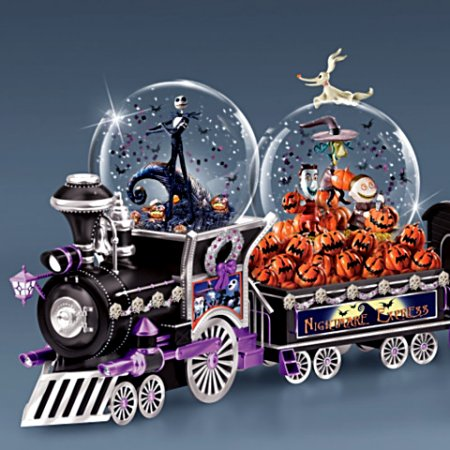 Disney Nightmare Before Christmas Snowglobe Train Collection