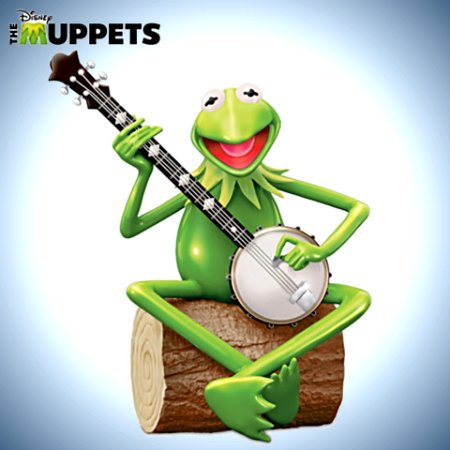 Disney The Muppets Kermit The Frog Heirloom Porcelain Musical Figurine