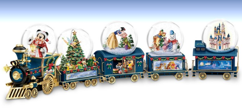 Disney Wonderland Express Miniature Snowglobe Train Collection